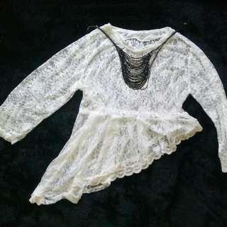 Lace Asimetris Without Neckless