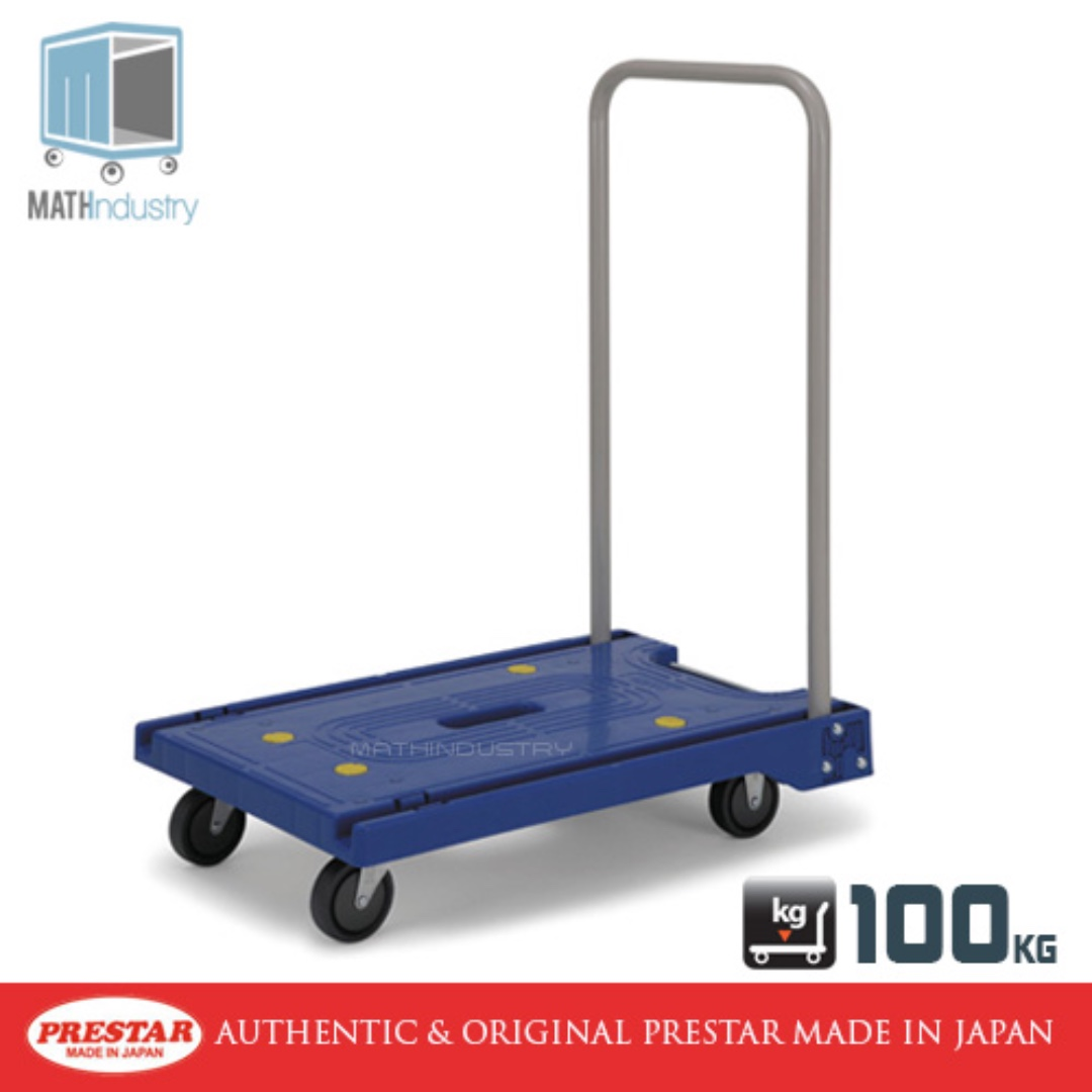 Trolley Folding Handle Plastic Base Hand truck PRESTAR (Made in Japan)