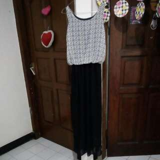Long dress up to L karet pinggang