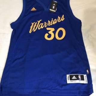Brand New Adidas Swingman Stephen Curry Warriors Christmas Jersey M