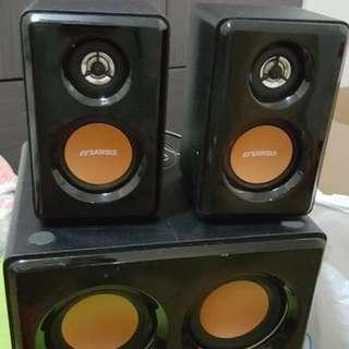 Sansui 喇叭speaker & subwoofer