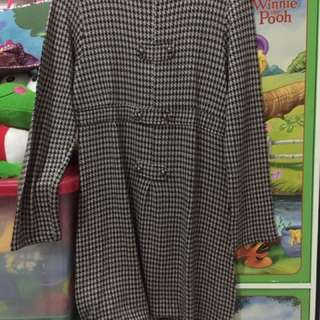 Dress Motif Houndstooth