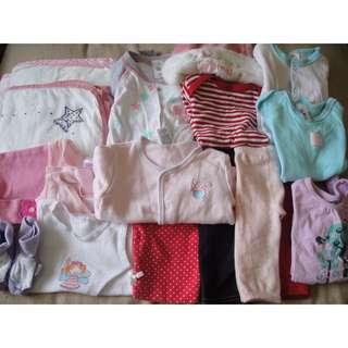 Pumpkin Patch/Cotton On Kids/Bonds Girl's Lot Size NB & 000