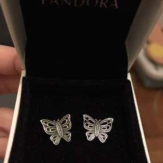 Pandora Earring 100% Real 90% New
