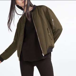 Zara Army Green Bomber