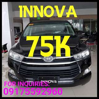 75k Dp Only..Real Deal. Toyota INNOVA 2017..No Hidden Charges
