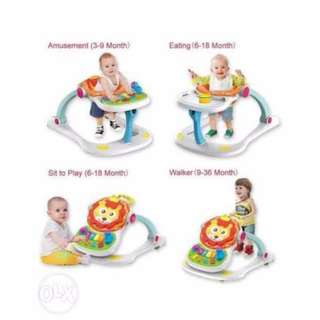 Huanger Grow Up Happily 4in1 Lion Entertainer Baby Walker