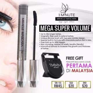 1MMM mascara hurry up..Get yours now !!  🌻free gift while stocks lasts!!! sahaja 🌻
