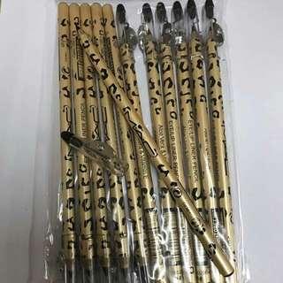 12pcs Mac Black Eye Pencil