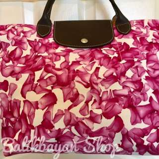 Longchamp Darshan Limited Collection Floral Pink