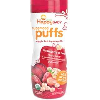 Happy Puffs - Strawberry & Beet
