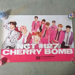 NCT 127 - Cherry Bomb (Pink ver.) (Poster) [UNFOLDED]