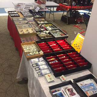 Vintage Fair At Katong Square Mall - Banknotes Coins Jewellery Stamps Silver Gold Singapore Straits China Qing & Republic N.Korea Cuba Etc