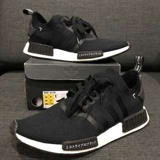 Mens Adidas Nmd R1 Prime Knit Japan Black Limited US10