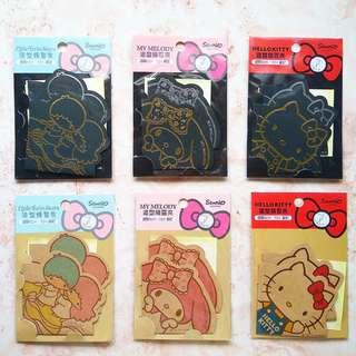全新現貨|sanrio kitty 雙子星 美樂蒂 kiki lala 牛皮精靈夾S文具 #含運最划算 #50元生活物品