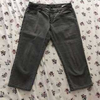 Dark Gray Bossini Pedal Pushers (gray jeans)