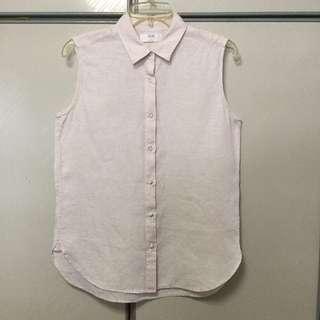 Uniqlo sleeveless collar top