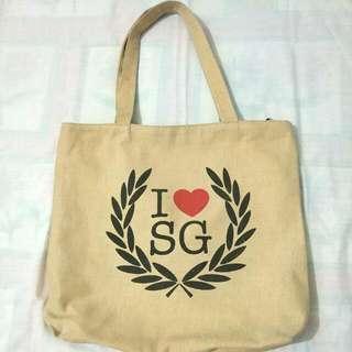 I Love Sg Tote Bag