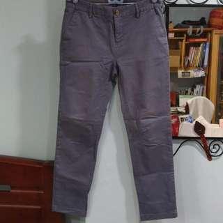 藍灰色休閒褲