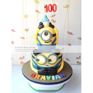 【Connie's Home Sweets】迷你兵 迷你兵團 壞蛋獎門人 Despicable Me Minions Minion 生日蛋糕 Cake1