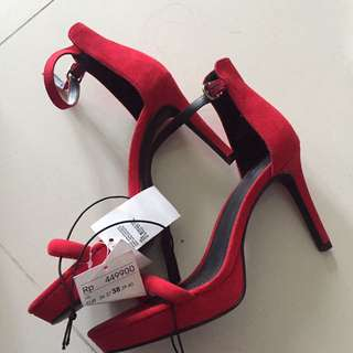HnM Ankle Strap Heels Red