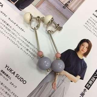 Japan Earth Music 夾耳環