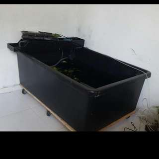 4ft Black Tub With Roller