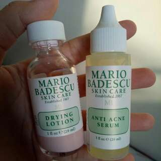 Mario Badescu Skin Care Anti Acne Serum dan Drying Lotion (29 ml/each)