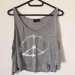 Top Shop Peace Crop Top