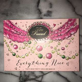 Too Faced Everything Nice Palette Limited Edition