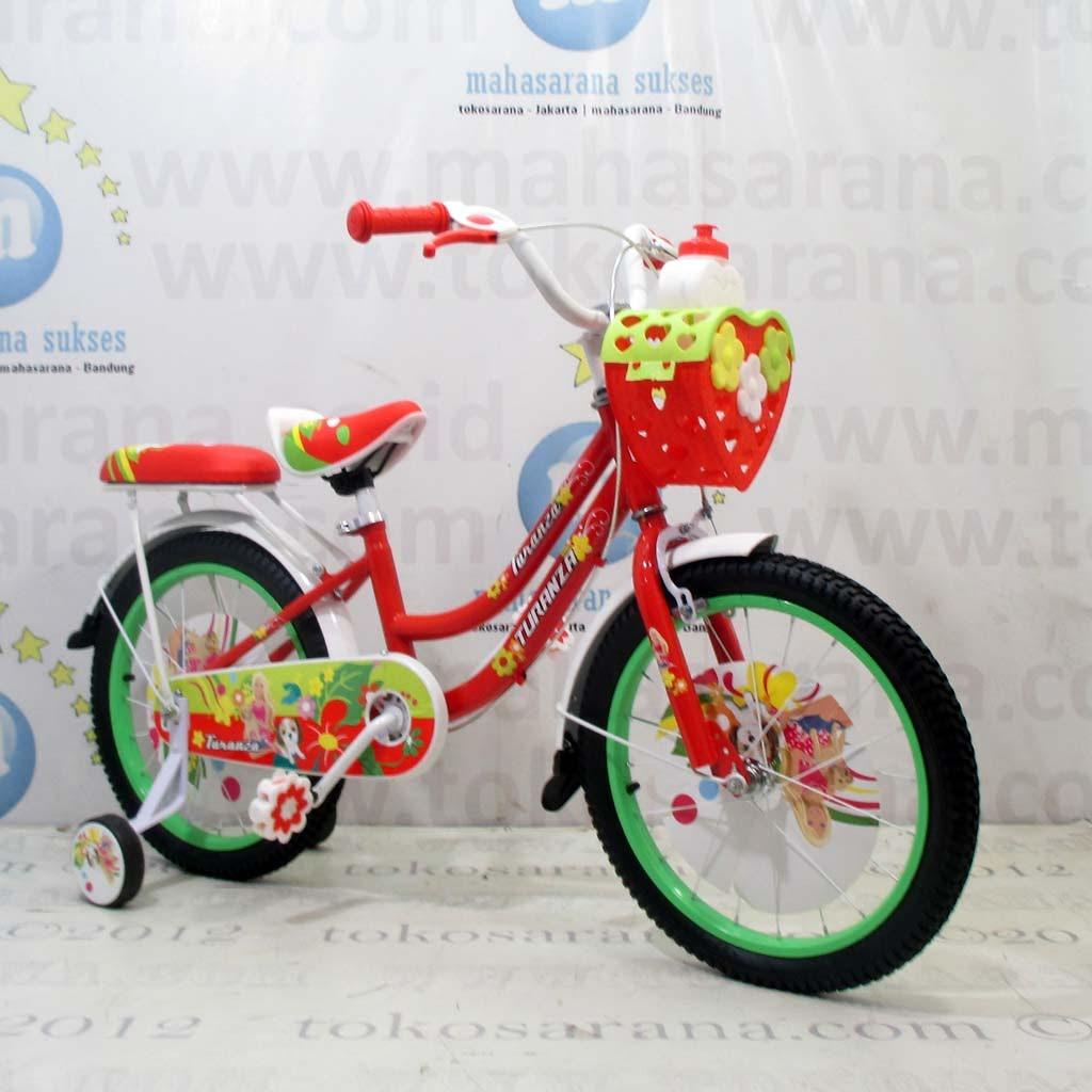 18in Turanza 891 Girl n Her Doggies CTB Sepeda Anak Perempuan 5-8Tahun