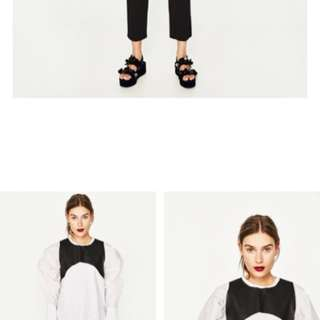 zara top with tag