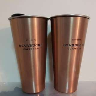Starbucks China Reserve Copper Stainless Steel Tumbler