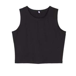 Black Small Crop Top