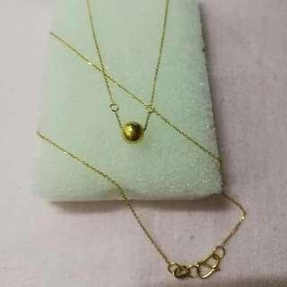 "necklace 16"" Japangold 1.1grms"