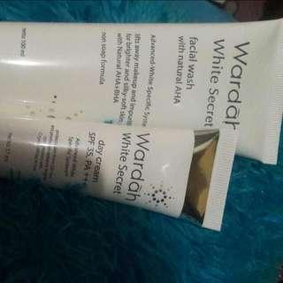 Facial Foam Wardah Screet + Day Cream Wardah Screet