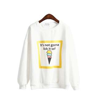 White Ice Cream Sweater 🍦