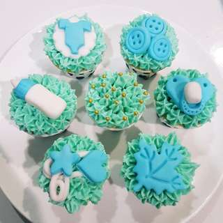 Baby Shower Themed Cupcakes