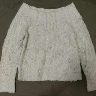 Sportsgirl Cropped White Knit // Size S