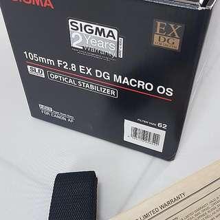 Sigma 105mm f2.8 EX Marco OS