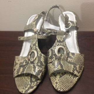 Leather Printed Sandals