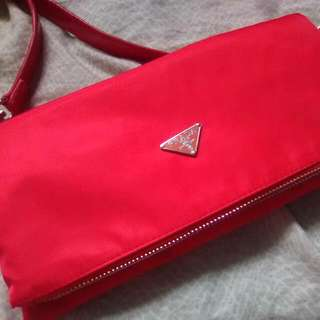 Red Prada Cross body Bag