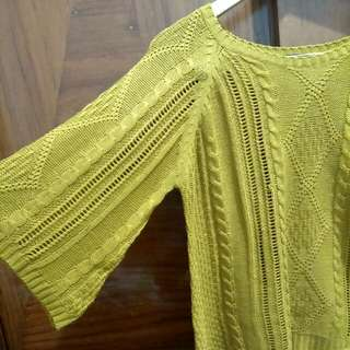 Simplicity Mustard Knitted Top