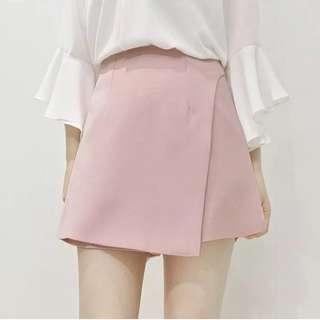 兩件式粉色褲裙