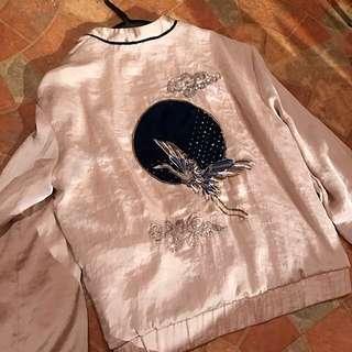 Zara刺繡外套