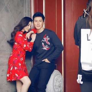H&M Cny Red Dress Size Xs