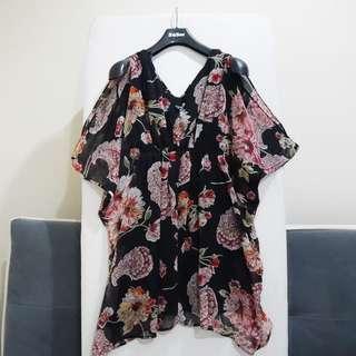 Rusty Butterfly Black Floral Dress