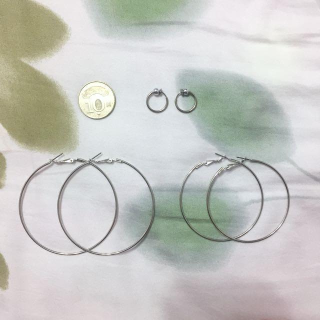 圓圈耳環 針式/夾式