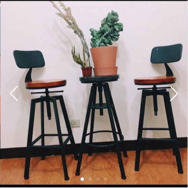 復古 工業風 Loft 風格 高腳椅 木質感 鐵椅 吧檯椅