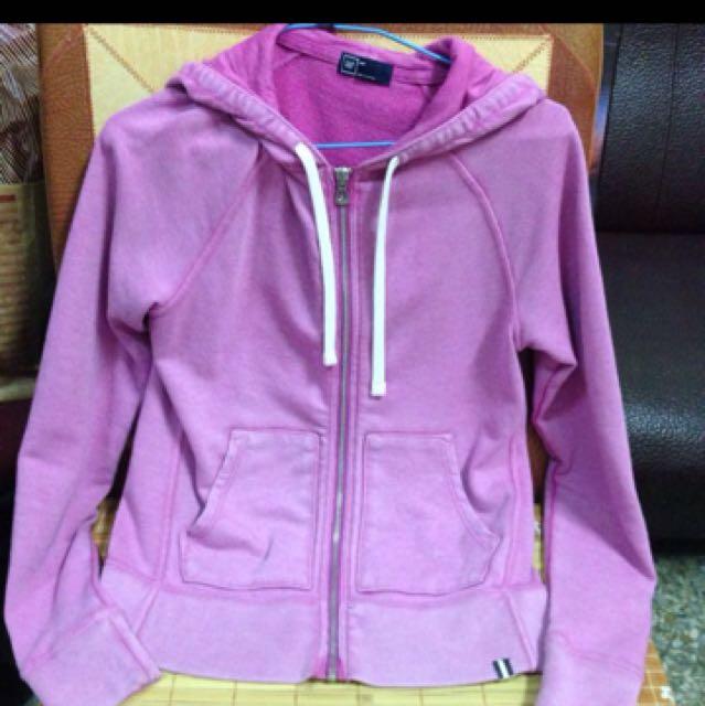 二手🖐🏻 Gap 休閒渲染粉紫色外套